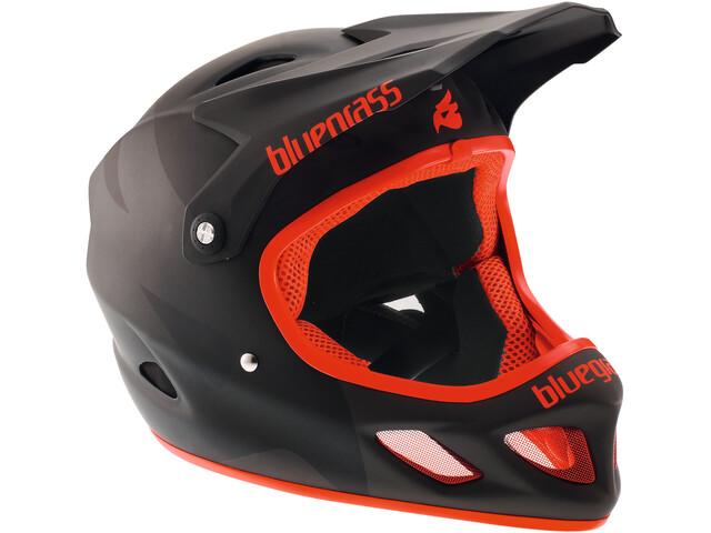 bluegrass Explicit Fullface-Helmet matt black/red